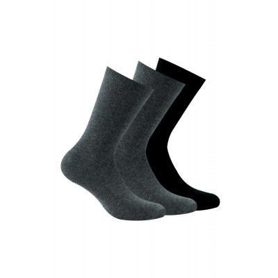 c0bbc2b5658 Lot de 3 paires chaussettes unies Lot de 3 paires chaussettes unies KINDY
