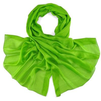 8072666015db Foulard soie vert en solde   La Redoute