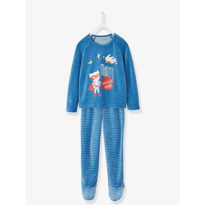 a3413af8eded5 Pyjama velours garçon avec pieds Pyjama velours garçon avec pieds VERTBAUDET