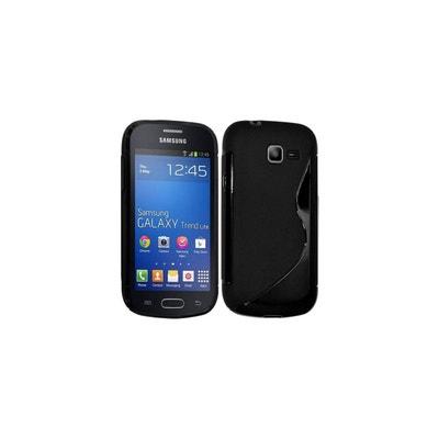 ba8497f33f426f Coque silicone S line bi-matiere noire pour Samsung Galaxy G3500  COQUEDISCOUNT