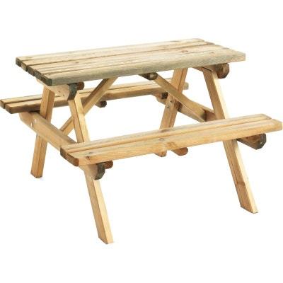 table pique nique bois la redoute. Black Bedroom Furniture Sets. Home Design Ideas