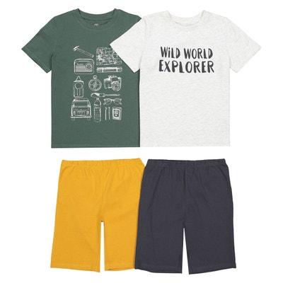ee208695a3099 Lot de 2 pyjashorts imprimés, 3-12 ans Lot de 2 pyjashorts imprimés,