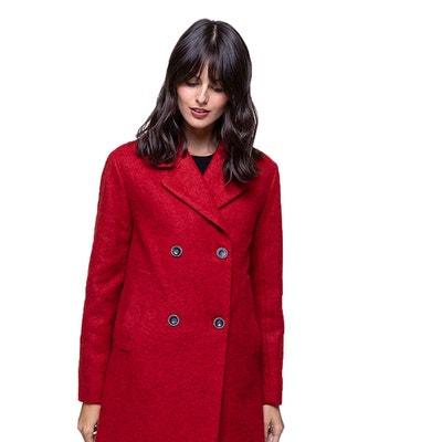 Rouge Manteau Femme La Redoute Laine BxR8v