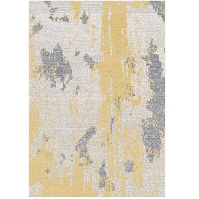tapis jaune et gris la redoute