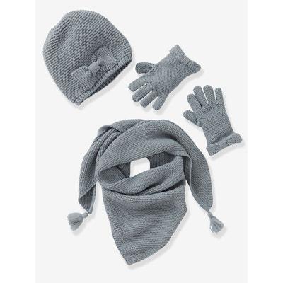 207c1b5c6c7 Echarpe fille + bonnet + moufles ou gants VERTBAUDET