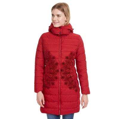 Doudoune longue rouge femme | La Redoute