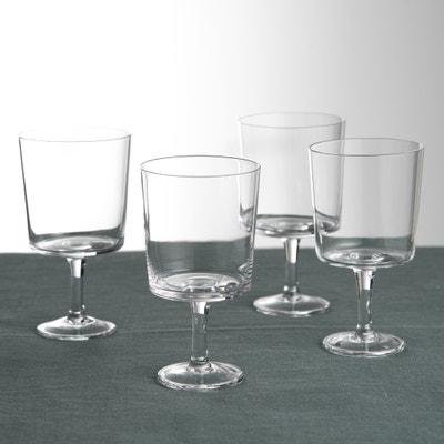 Set van 4 stapelbare glazen met voet , MULI Set van 4 stapelbare glazen met voet , MULI LA REDOUTE INTERIEURS