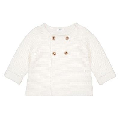 4e66cd5cb2a8d Gilet naissance en tricot Préma -2 ans Gilet naissance en tricot Préma -2  ans