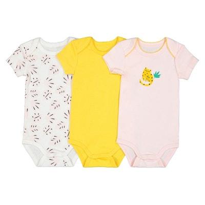 Lot de 3 bodies en coton biologique 0 mois-3 ans Lot de 3 bodies 4c9e6a13f6d
