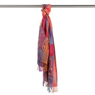 ed3f706d4b36 Foulard Laine MUMBAÏ 1 Rouge et violet Foulard Laine MUMBAÏ 1 Rouge et  violet MADURA