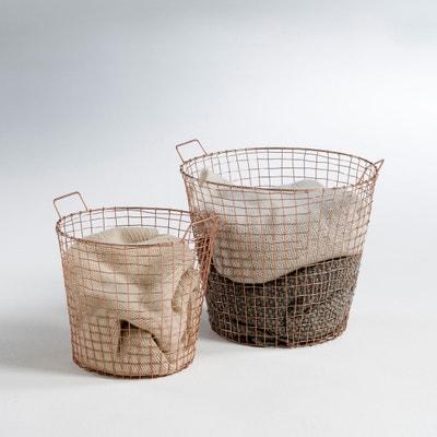 Set van 2 manden in koperen metaal, ELORI Set van 2 manden in koperen metaal, ELORI LA REDOUTE INTERIEURS