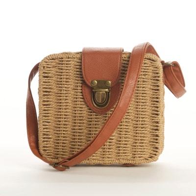 59b21042bc591 Woven Basket Box Bag LA REDOUTE COLLECTIONS