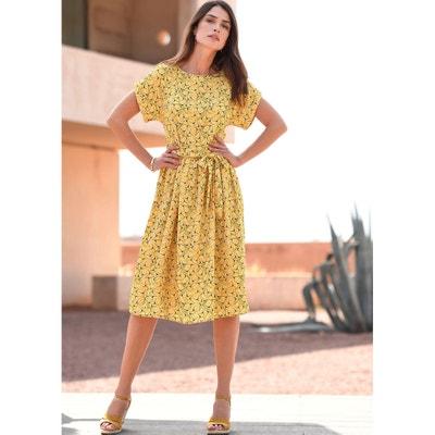 Lange wijde jurk met bloemenprint Lange wijde jurk met bloemenprint ANNE WEYBURN