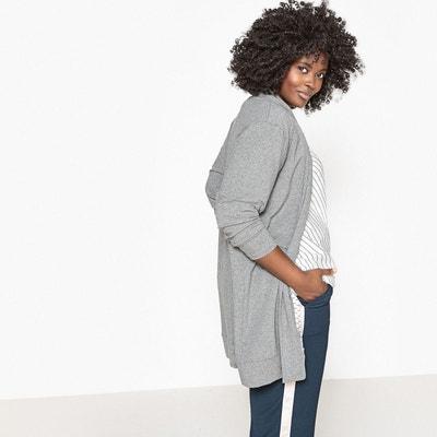 low price best loved exclusive range Gilet long gris femme | La Redoute