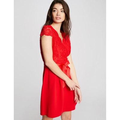 5e249a992fb Robe dentelle rouge et noir