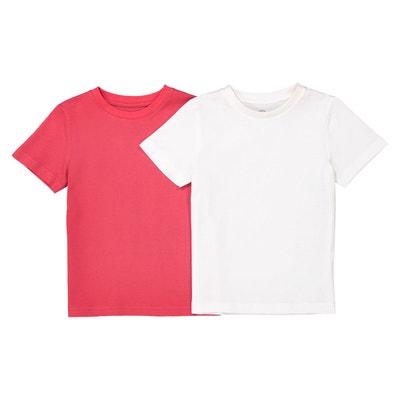 97d295d211234 Lot de 2 t-shirts unis 3-12 ans Lot de 2 t-