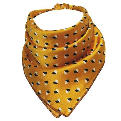 Foulard carré polysatin géométrique CHAPEAU-TENDANCE 2798b6a2880