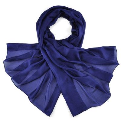 Foulard femme bleu marine en solde   La Redoute 3d1a877d42b