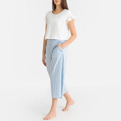 67e9226ab7 Pijama con pantalón pesquero 100% algodón LA REDOUTE COLLECTIONS