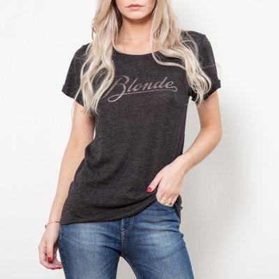 Tee shirt col rond manches courtes imprimé devant LE TEMPS DES CERISES ef4be8cfd90