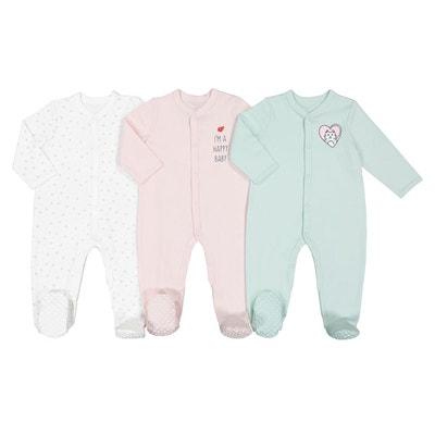 25ba1354fb525 Lot de 3 pyjamas pur coton