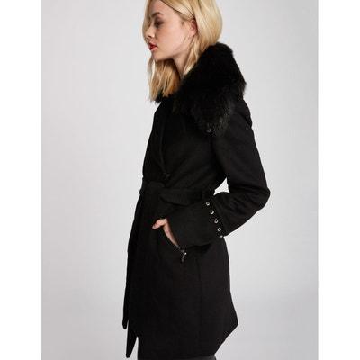 6102dcb4687 Manteau avec col en imitation fourrure Manteau avec col en imitation  fourrure MORGAN