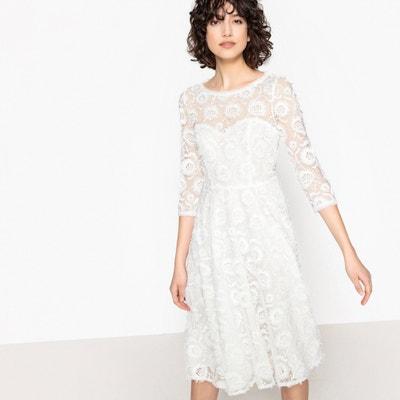6ce1507e017 Платье свадебное из кружева с красивой спинкой LA REDOUTE COLLECTIONS