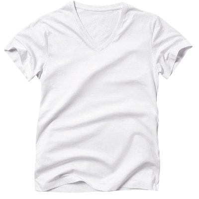 6f588b8db723 Tee shirt col V en coton