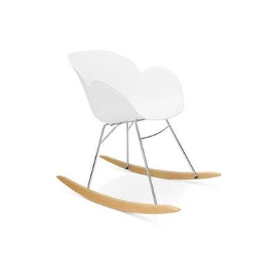 Chaise A Bascule En Plastique Blanc REXTON DECLIKDECO