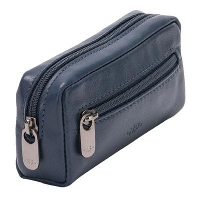 50e59534f4f Nuvola Pelle Porte-clés Homme Femme en cuir véritable Sac Étui avec  fermeture zippée à. «