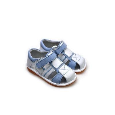 ec278cd084694 Chaussures semelle souple Sandales bicolores Chaussures semelle souple  Sandales bicolores FREYCOO