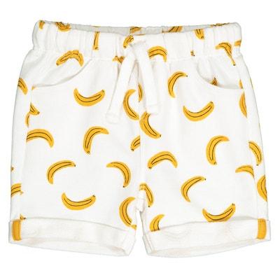 b34ca570b639 Shorts in felpa fantasia banane 1 mese - 3 anni Shorts in felpa fantasia  banane 1