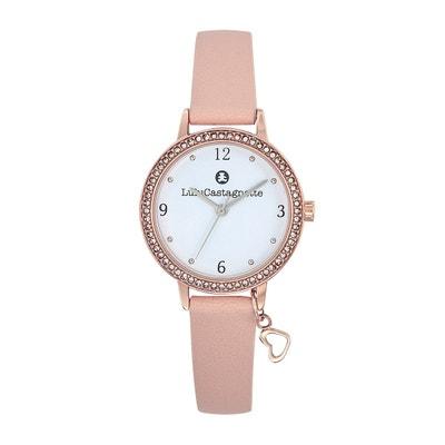 ed4419f3bc Montre fille Lulu Castagnette ECLAT bracelet cuir charm coeur LULU  CASTAGNETTE