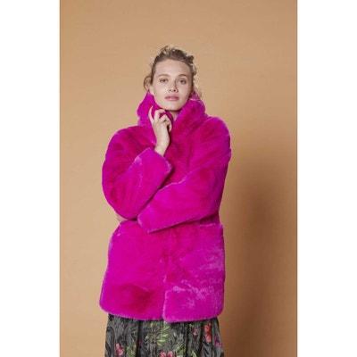 Manteau femme beige rose