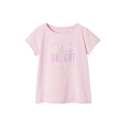 2d5a8ca4575 T-shirt fille à message fantaisie encre gonflante irisée T-shirt fille à  message. VERTBAUDET
