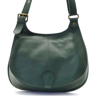 2005f15e81 Sac cuir vert | La Redoute