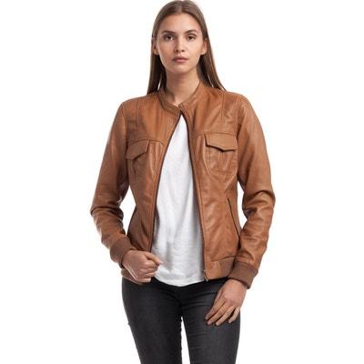 e19abaab7773 Veste en cuir et simili cuir femme en solde   La Redoute
