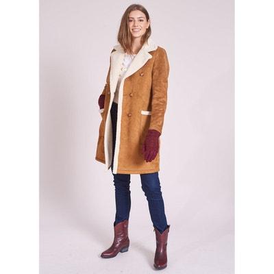 Manteau imitation peau lainee   La Redoute