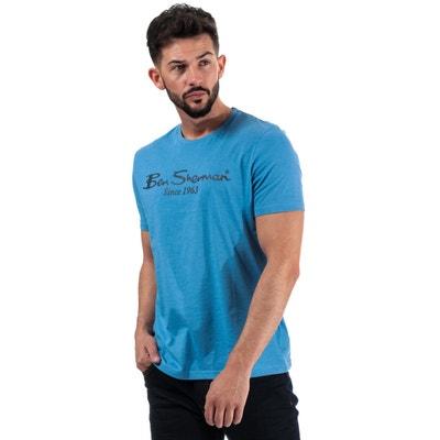 Ben Sherman Script Bleu Glace//Noir 100/% Coton Polo Shirt