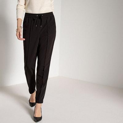 Pantalon droit, ceinture élastiquée dos ANNE WEYBURN 0061f5e4db7