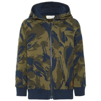 Sweat-shirt zippé à capuche imprimé camouflage NAME IT de9f5a9bdac