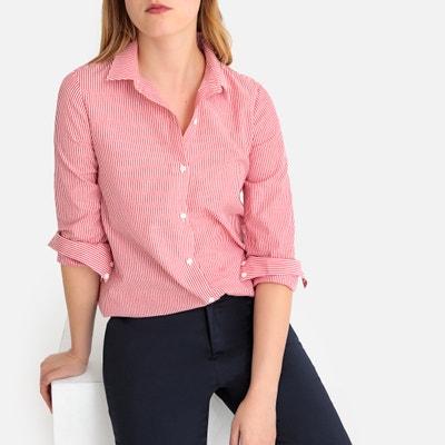 04d8c49636edbe Asymmetric Striped Cotton Shirt LA REDOUTE COLLECTIONS