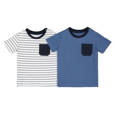 8329ae231f81d Lot de 2 T-shirts manches courtes 1 mois-4 ans LA REDOUTE COLLECTIONS