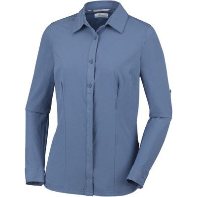 c22d5f4cc1df Saturday Trail - T-shirt manches longues Femme - bleu COLUMBIA