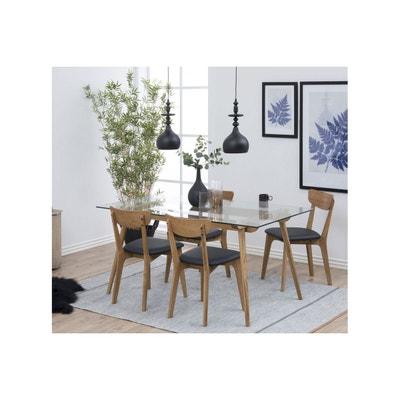 Table Moderne En Bois Et Verre   PAIXA Table Moderne En Bois Et Verre    PAIXA
