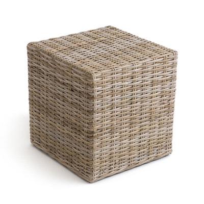 Pouf cubique kubu ou rotin repose-pieds, INQALUIT LA REDOUTE INTERIEURS 7a9e993631f4