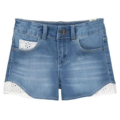 Short en jean et broderie anglaise 4-14 ans IKKS JUNIOR 58b649a092b