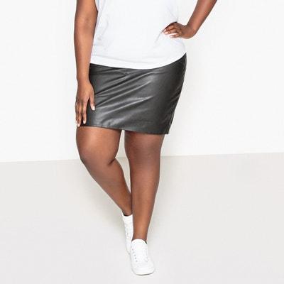 d1c0b41362b Faux Leather Skirt CASTALUNA PLUS SIZE