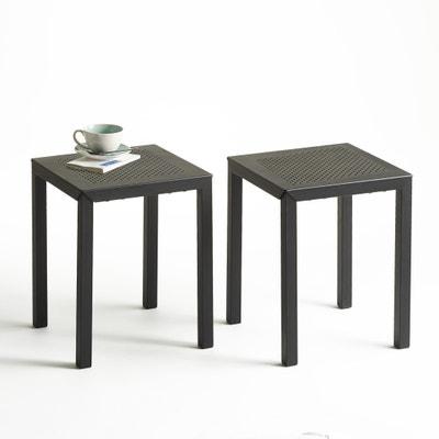 Taboeret in geperforeerd metaal, set van 2, Choe Taboeret in geperforeerd metaal, set van 2, Choe LA REDOUTE INTERIEURS