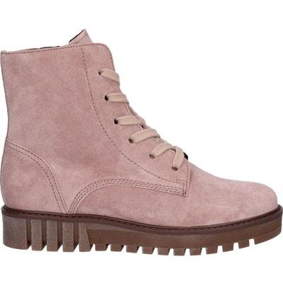 65f4a500df7c Boots croute de cuir femme